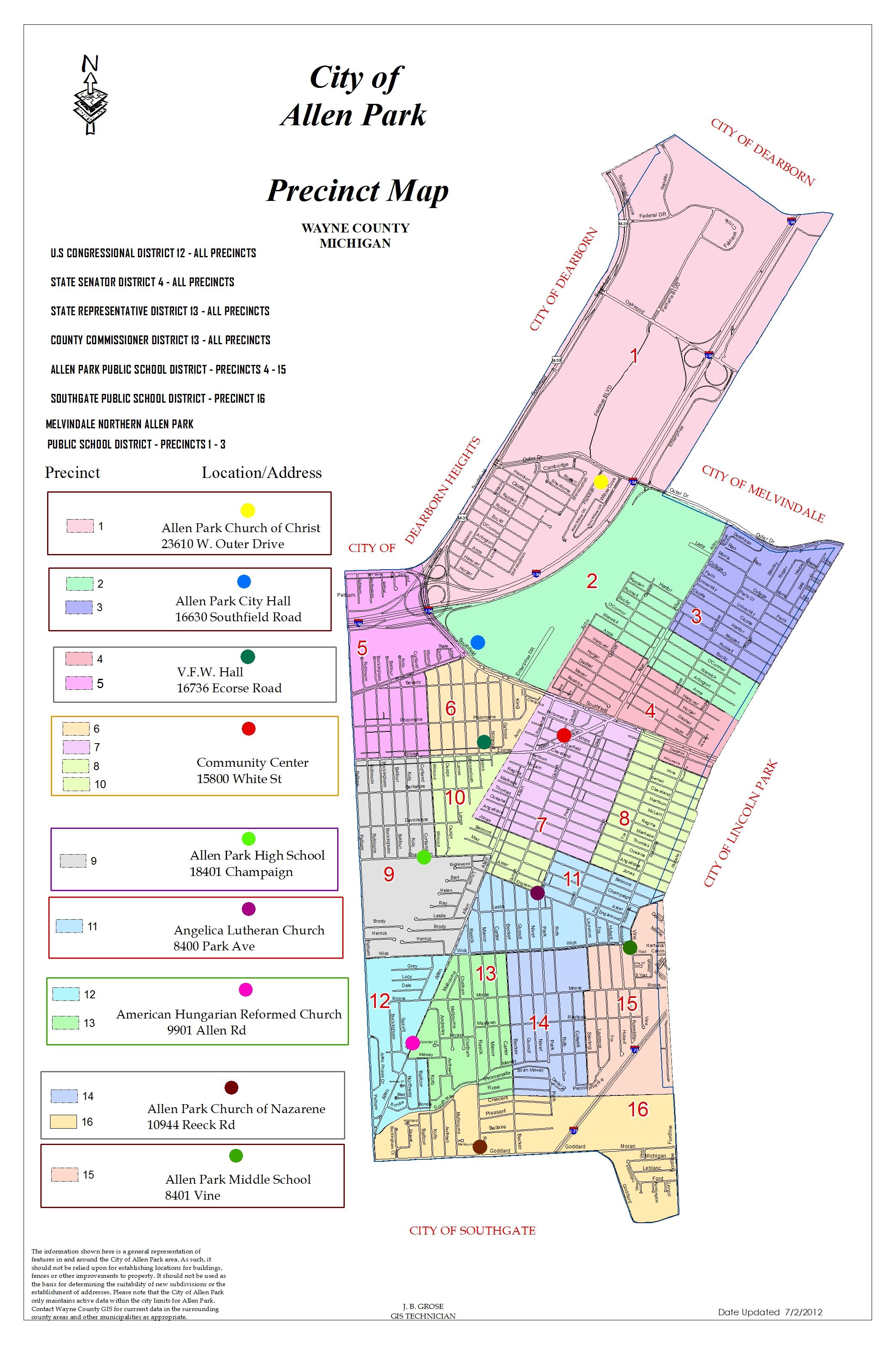 Allen Park Michigan Maps